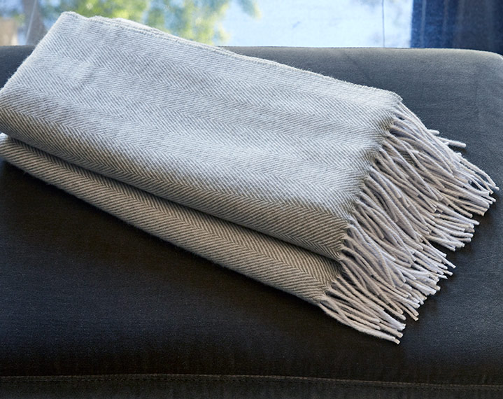 Frette 1860 For St. Regis Herringbone Throw