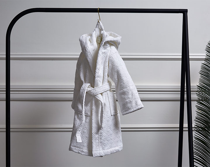 Frette 1860 For St. Regis Kids Hooded Robe